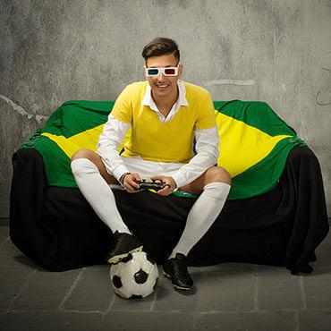 Namorado que gosta de futebol