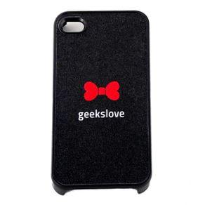 Capa-para-Iphone-4-Geeks-Love-Lacinho-Vermelho-Preta-com-Purpurina
