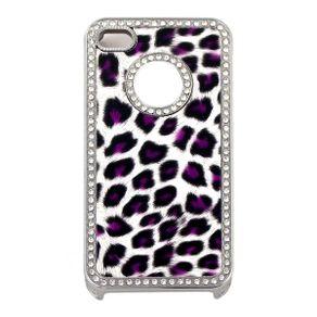 Capa-para-Iphone-4-Oncinha-Lilas-Luxo-com-Strass
