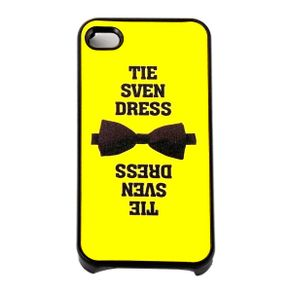 Capa-para-Iphone-4-Tie-Sven-Dress-Amarela-com-Purpurina