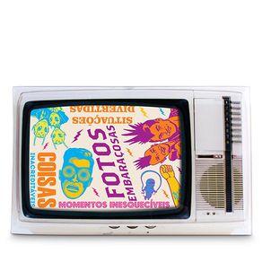 Porta-Retrato-TV-Vintage-Branco