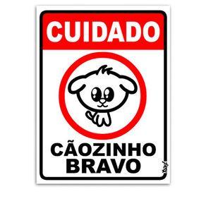 Placa-Cuidado-Caozinho-Bravo