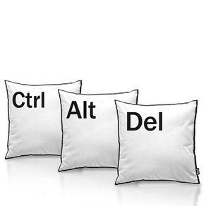 Kit-de-Almofadas-Ctrl-Alt-Del-Geek---3-almofadas