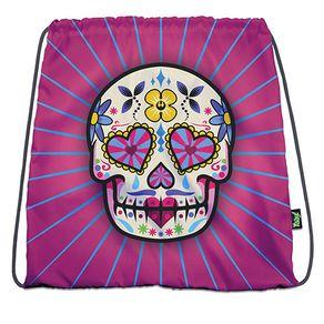 Mochila-Sacola-Caveira-Dia-dos-Mortos-Mexicano-Rosa