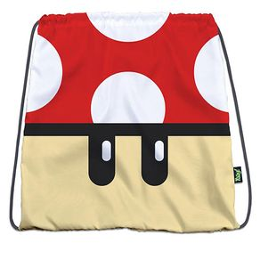 Mochila-Sacola-Super-Mario-Bros-Cogumelo-Vermelho-Geek