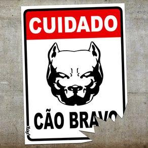 Placa-Cuidado-Cao-Bravo-com-Mordida
