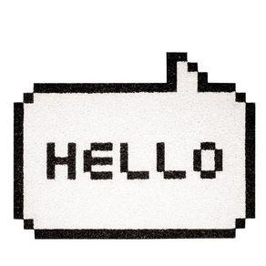 Capacho-Hello-Pixelado-Branco-Geek