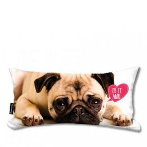Almofada-Cachorro-Pug-Te-Amo-Pelucia-Pequena