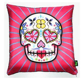 Almofada-Caveira-Dia-dos-Mortos-Mexicano-Rosa