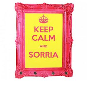 Porta-Chaves-Keep-Calm-e-Sorria