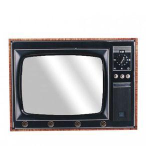 Porta-Chaves-TV-Retro-com-Espelho