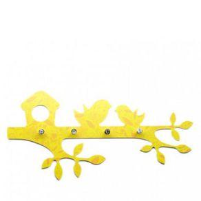 Porta-Chaves-Passarinho-Amarelo