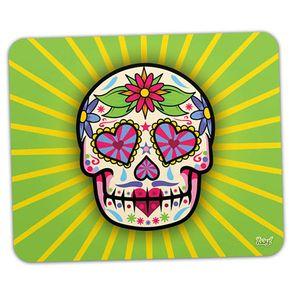 Mouse-Pad-Caveira-Mexicana-Dia-dos-Mortos-Verde
