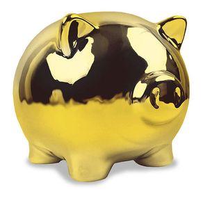 Cofrinho-Porquinho-Dourado