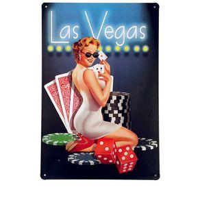 Placa-Las-Vegas-Retro