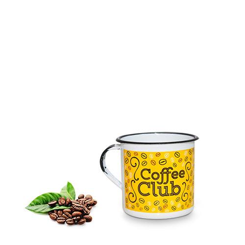 Caneca Clube do Café Amarela Metalizada