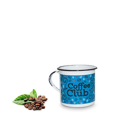 Caneca Clube do Café Azul Metalizada