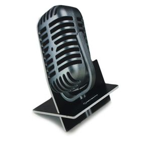 Porta Celular Microfone Vintage