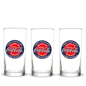 Kit-3-copos-coca-cola-vintage-classic-logo-vintage