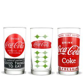 Kit-3-copos-coca-cola-vintage