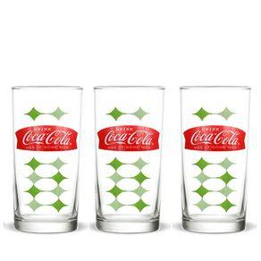 Kit-3-copos-coca-cola-vintage-losangos