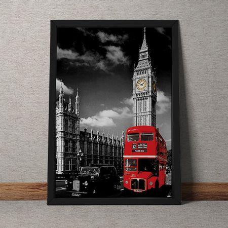 Quadro Decorativo Onibus Ingles E Big Ben