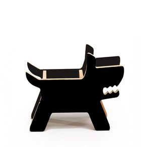 Porta-lapis-cachorro-preto