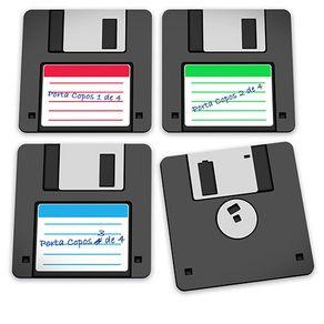 Porta-copos-disquete-geek-pc006