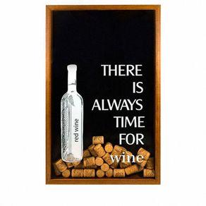 Quadro-porta-rolhas-de-vinho-sempre-e-a-hora-fundo-preto-7896467389832