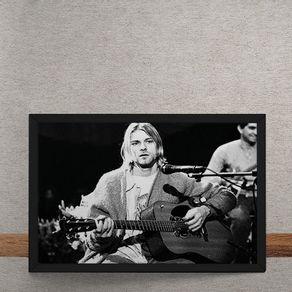 Nirvana-Kurt-Cobain-Violao-Preto-e-Branco-tecido