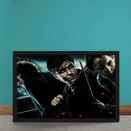 Quadro Decorativo Harry Potter E As Reliquias Da Morte