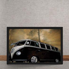 Carro-Volkswagen-Kombi-Preta-tecido