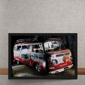 Carro-Volkswagen-Kombi-Vermelha-Destruida-tecido