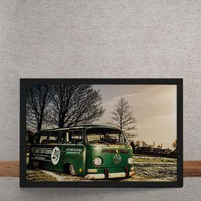 Carro-Volkswagen-Kombi-Verde-Rebaixada-tecido