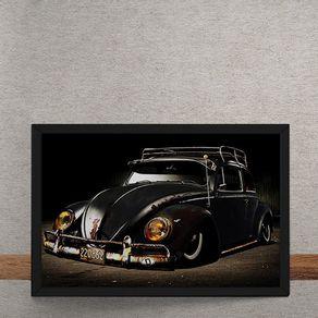 Carro-Volkswagen-Fusca-Preto-tecido