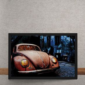 Carro-Volkswagen-Fusca-Destruido-de-Noite-tecido