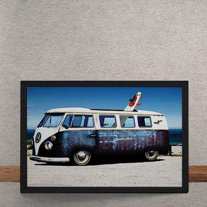 Carro-Volkswagen-Kombi-Branca-Azul-Surfe-tecido