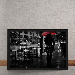 Noite-Chuvosa-Guarda-Chuva-Vermelho-tecido