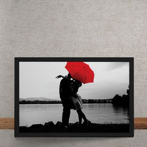 Casal-Lagoa-Guarda-Chuva-Vermelho-tecido