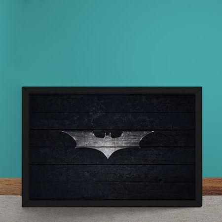 Quadro Decorativo Batman Logo Mural Minimalista DC Comics