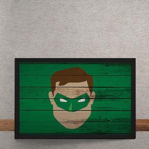 Lanterna-Verde-Mural-Minimalista-tecido