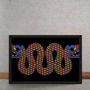 Quadro Decorativo Dragao Chines