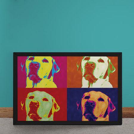Quadro Decorativo Andy Warhol Pop Art Cachorro Labrador