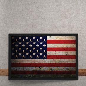 Quadro Decorativo Bandeira dos Estados Unidos