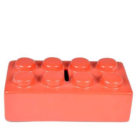 Cofrinho Peça de Lego Vermelho