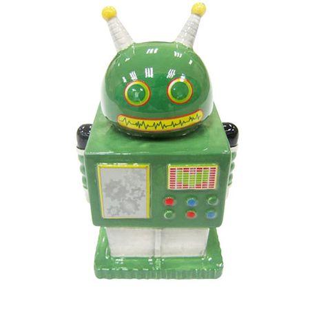 Cofrinho Robô Retrô Verde
