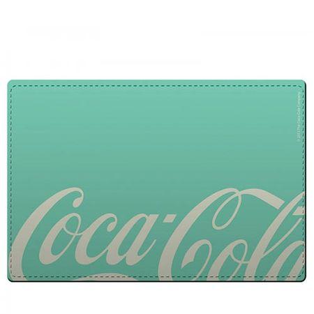 Kit Jogo Americano e Porta Copos Coca Cola Moderno Verde - 4 Peças