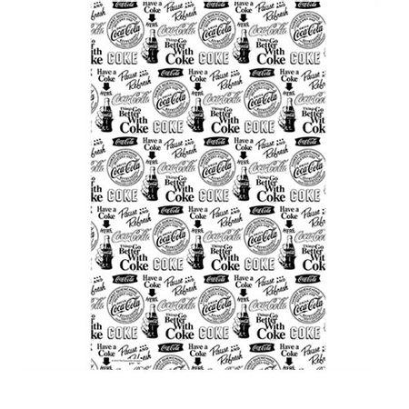 Pano de Prato Coca Cola Logos Preto e Branco