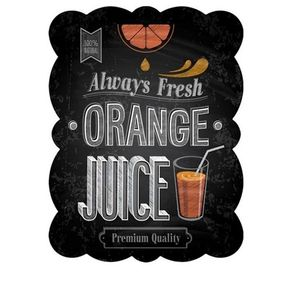 85027961-Placa-decorativa-de-metal-suco-de-laranja-fresco