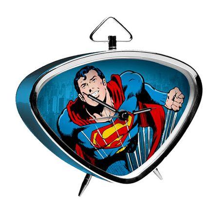 Relógio de Mesa Triangular Super Homem Quadrinhos HQ DC Comics